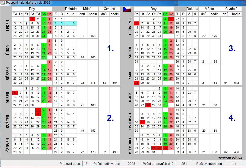 9c661e3097 Klasický plánovací kalendář pro rok 2015
